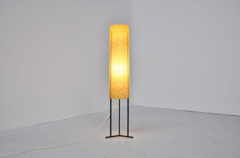 Dutch tube floor lamp 1950