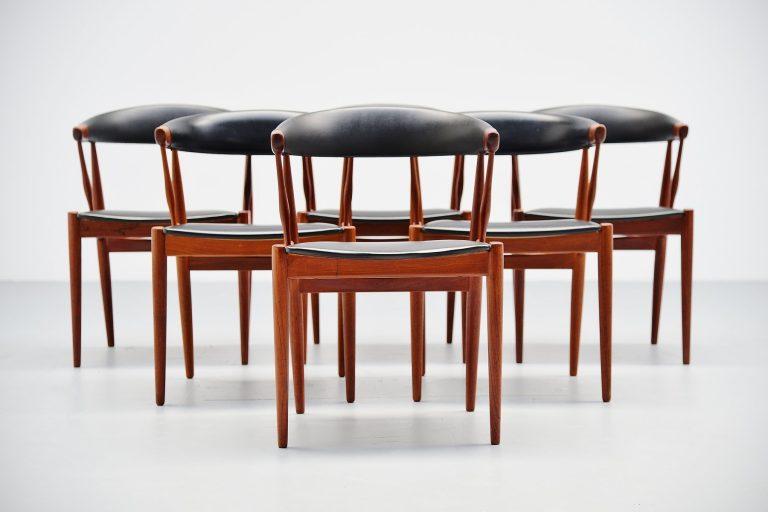 Johannes Andersen BA113 dining chairs Denmark 1969