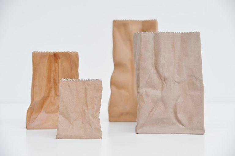 Tapio Wirkkala paper bag vases Rosenthal Germany 1977