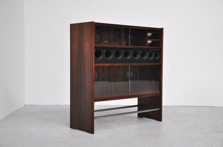 Rosewood bar cabinet Poul Heltborg Denmark 1968