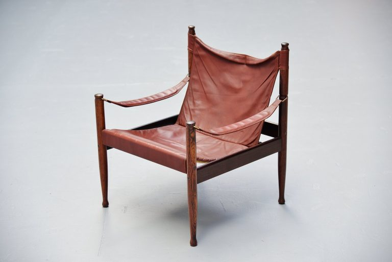Erik Worts safari chair for Niels Eilersen Denmark 1960
