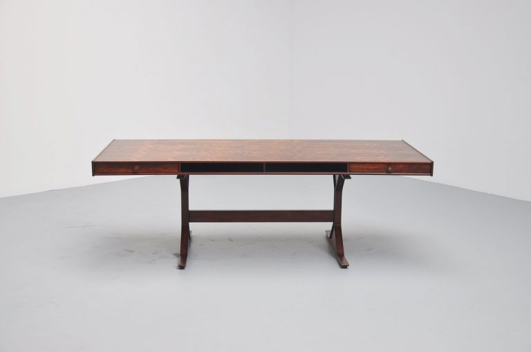 Gianfranco Frattini rosewood desk for Bernini 1956