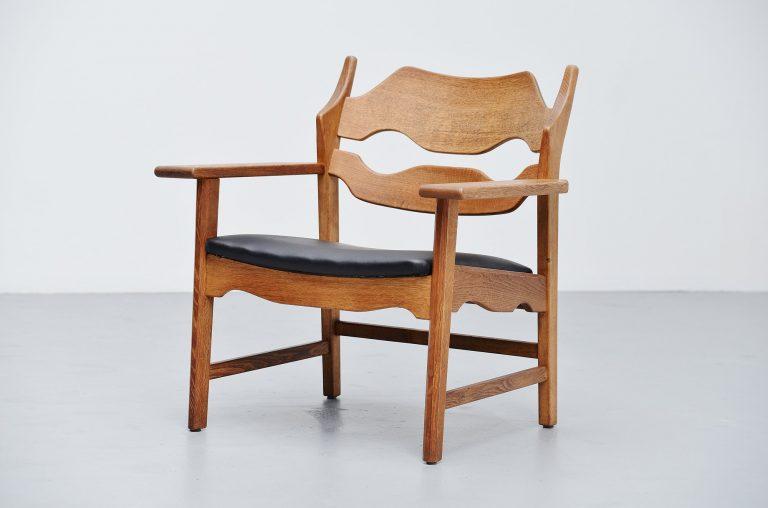 Henning Kjaernulf razor blade chair Denmark 1960