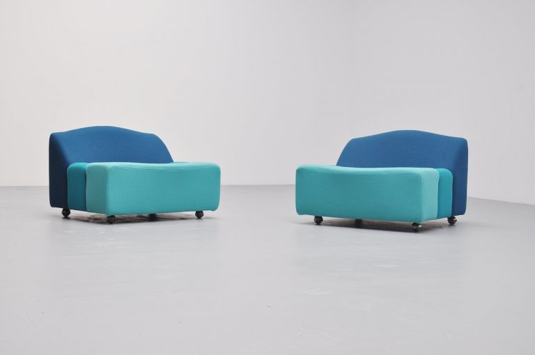 Pair of abcd lounge chairs by Pierre Paulin for Artifort 1968
