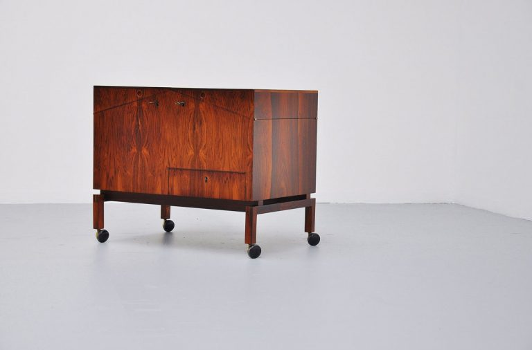 Leif Alring C.F. Christiansen Silkeborg bar table Rosewood 1960