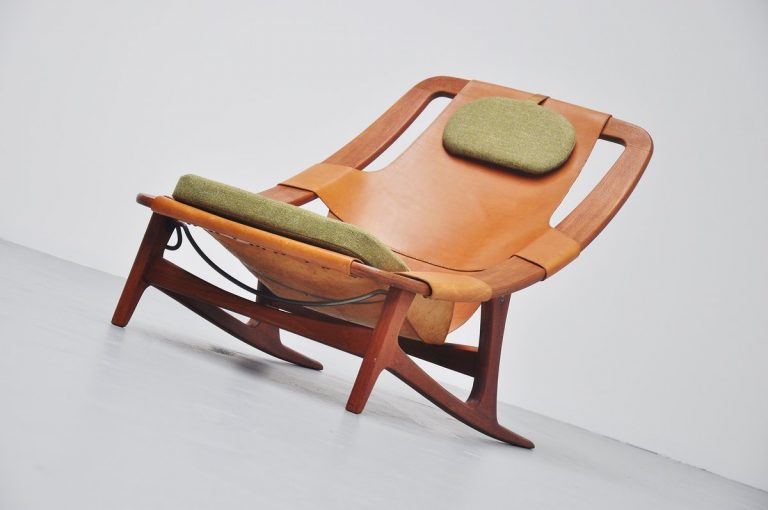 Arne F. Tidemand Ruud Holmenkollen lounge chair Norcraft 1959