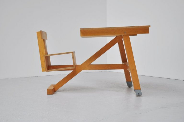 Architectural school desk Dutch 1960