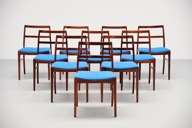 Arne Vodder dining chairs model 430 Sibast Mobler 1960