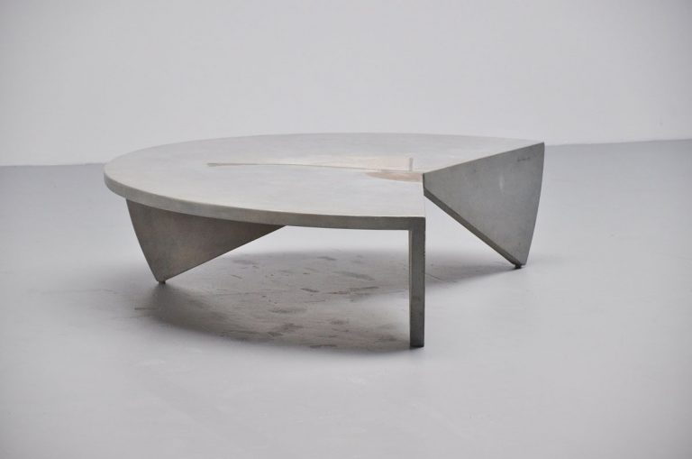 Henk Erkelens artwork coffee table Unique piece 1972