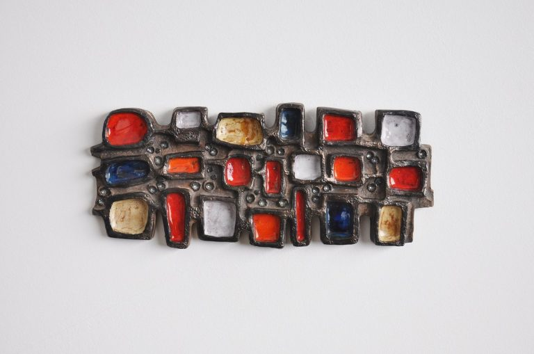Perignem ceramic wall art sculpture Belgium 1965