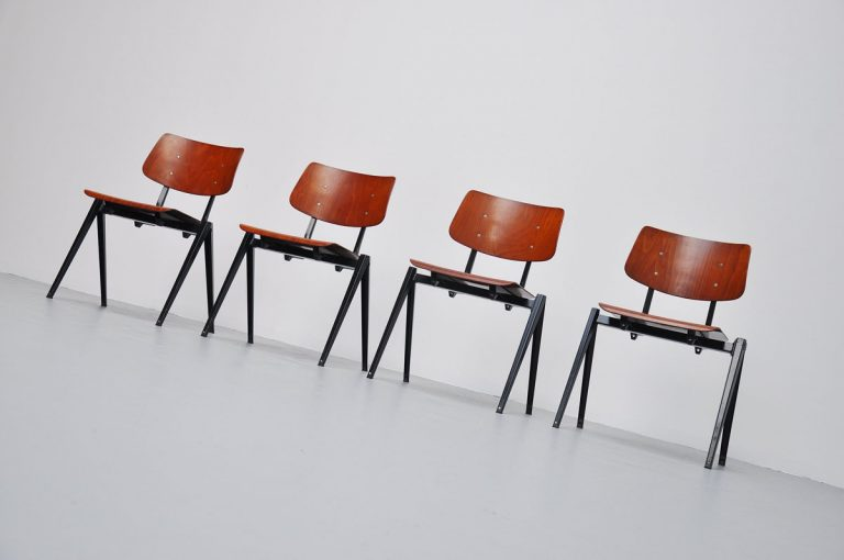 Industrial Galvanitas stacking chairs 1970