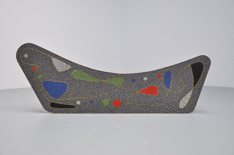 Berthold Muller mosaik table Germany 1950