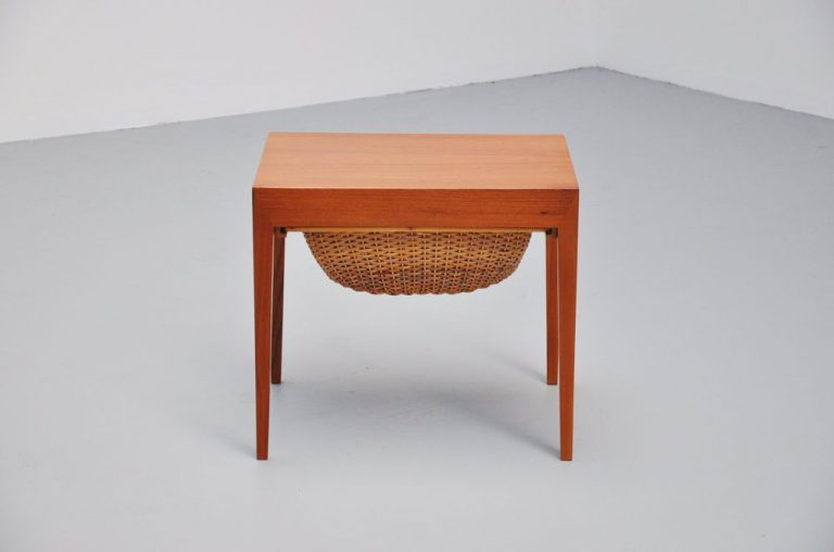 Severin Hansen sewing table by Haslev Denmark 1955