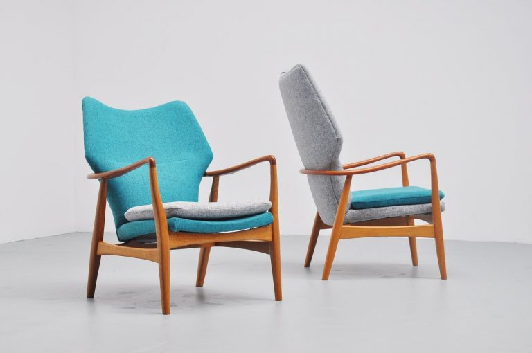 Aksel Bender Madsen wingback chairs Bovenkamp 1959