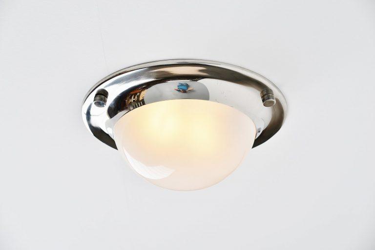 Luigi Caccia Dominioni Azucena chrome LSP6 lamp Italy 1965