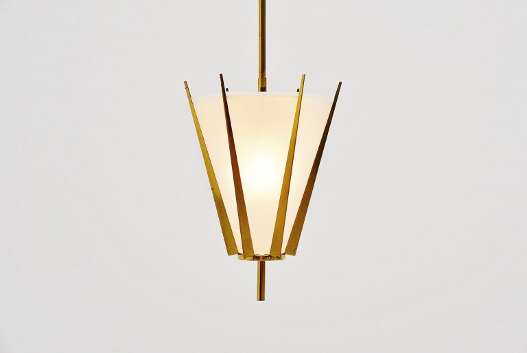 Arredoluce attributed pendant lamp Italy 1950