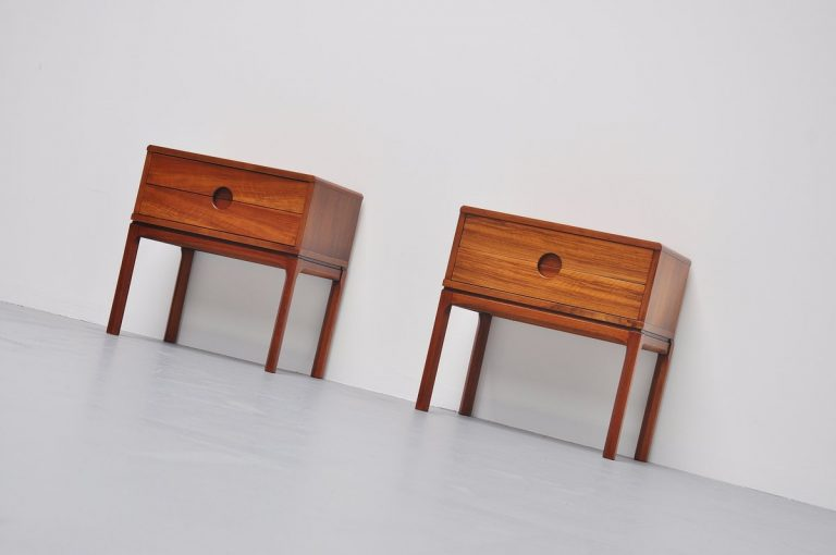 Pair of night stands by Aksel Kjersgaard for Odder Denmark 1960