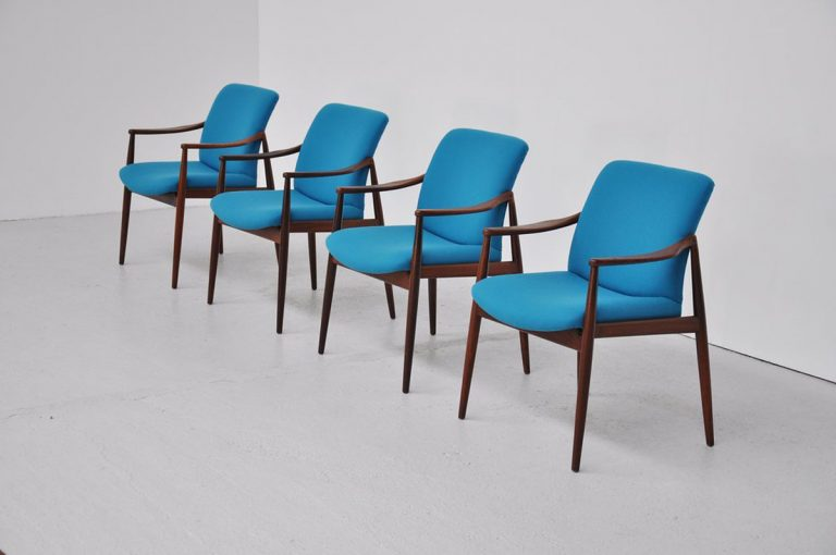 Wilkhahn Hartmut Lohmeyer chairs in teak 1959