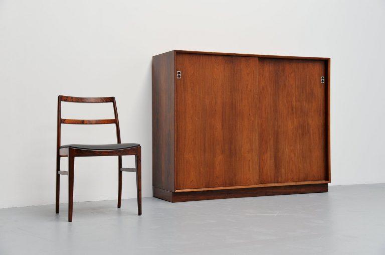 Arne Vodder rosewood cabinet Sibast Mobler Denmark 1960