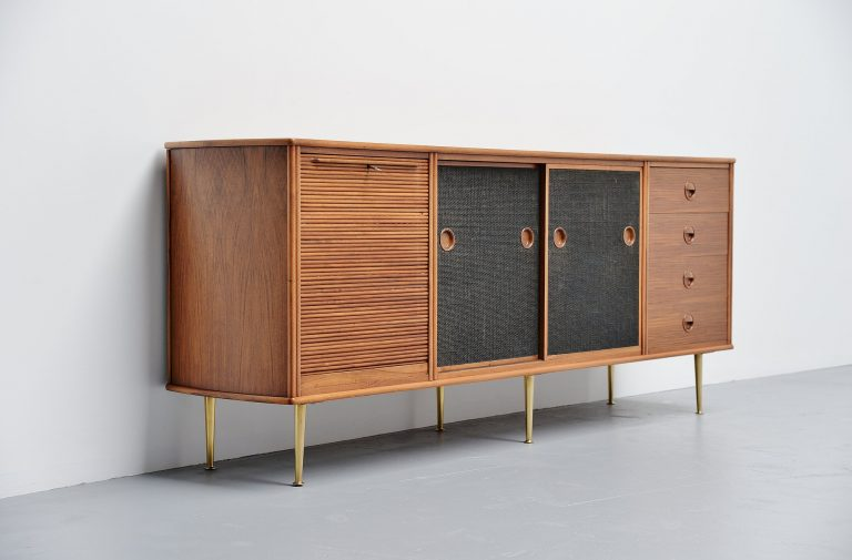 William Watting walnut credenza Fristho Franeker 1956