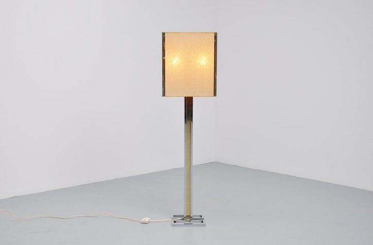 Willy Rizzo geometric floor lamp Italy 1970