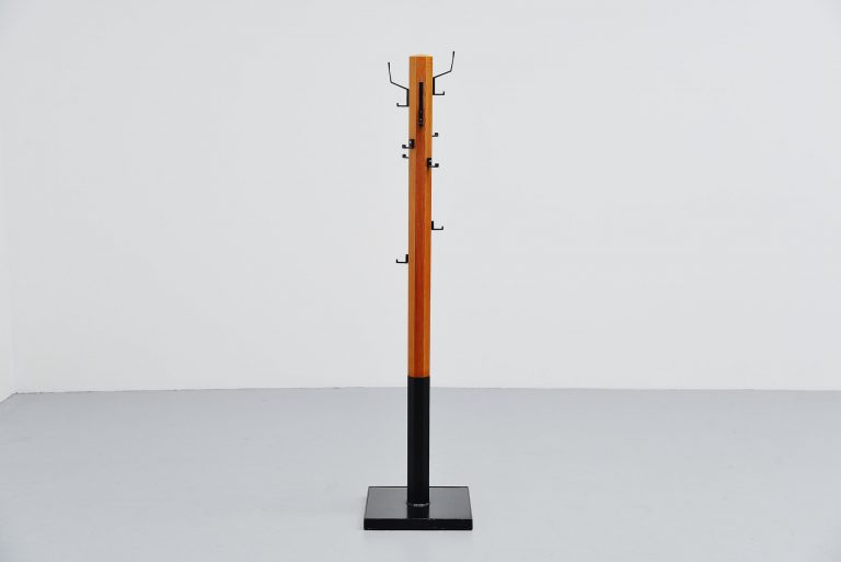Swedish modernist coat stand in pine wood 1960