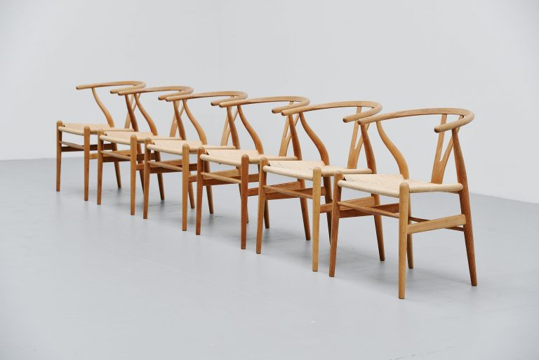 Hans J Wegner CH24 wishbone chairs Carl Hansen Denmark 1949