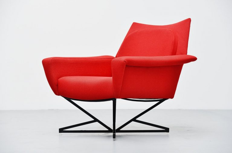 Gastone Rinaldi attributed lounge chair Italy 1955