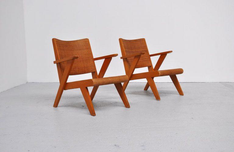 Rohe cane chairs by Dirk van Sliedrecht 1950