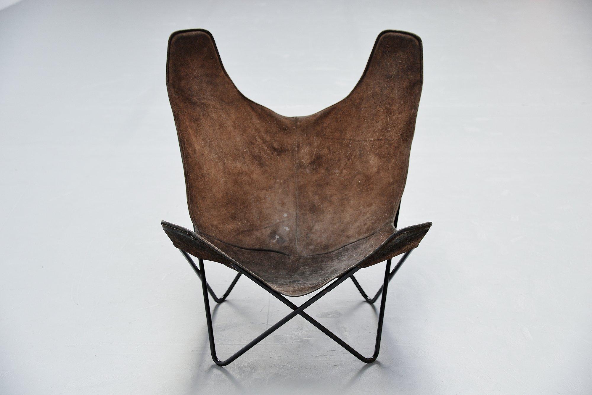Jorge Hardoy Ferrari Butterfly Chair Brown For Knoll 1970