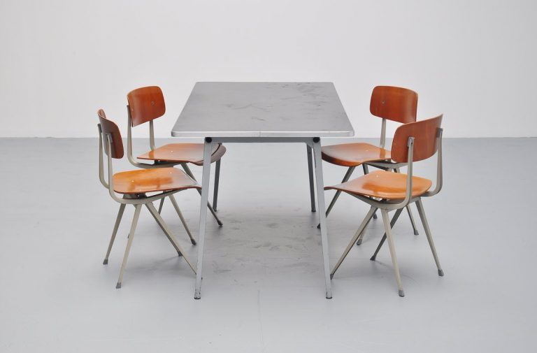 Friso Kramer grey Reform table for Ahrend 1955