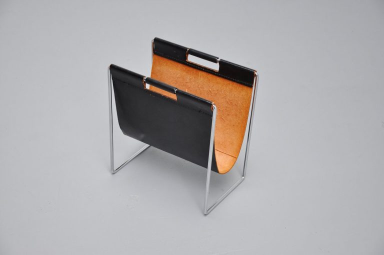 Leather magazine holder 1970
