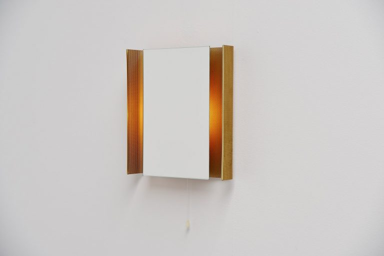 Floris Fiedeldij illuminated mirror by Artimeta 1960