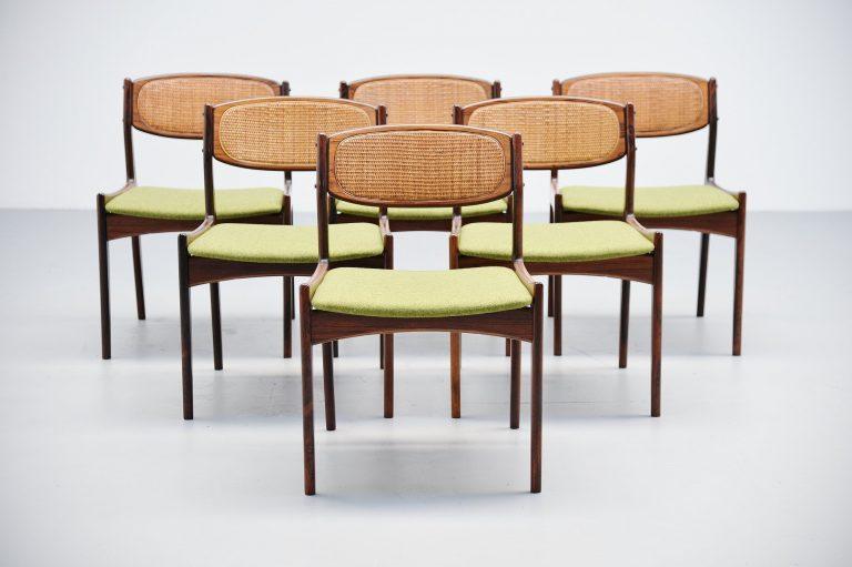 Ib Kofod Larsen chairs by Christian Linneberg Denmark 1960