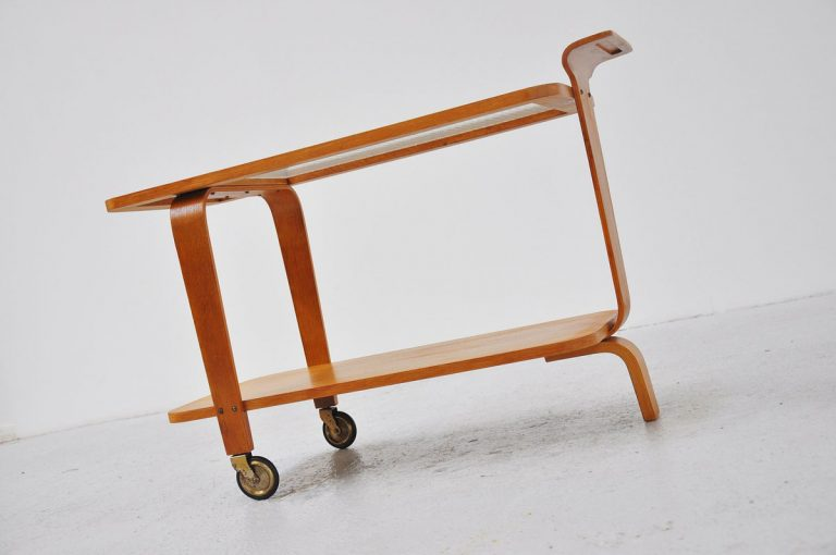 Willem Lutjens tea cart Model 546 Den Boer 1953