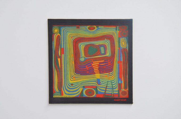 Friedensreich Hundertwasser silk psychedelic artwork 1953