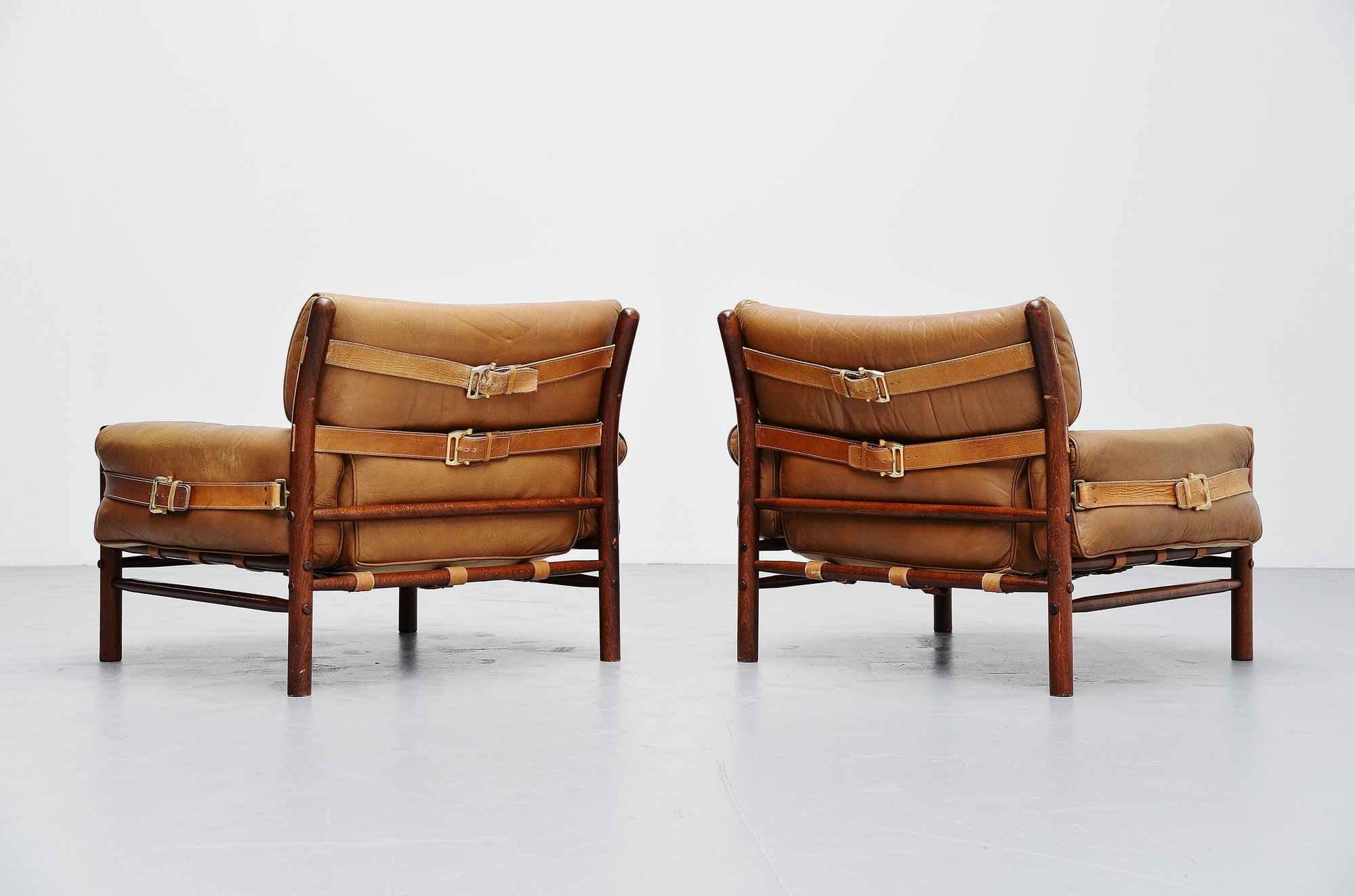 Arne Norell Kontiki Lounge Chairs Sweden 1960. Up. Down