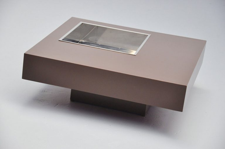 Willy Rizzo brown cocktail table 1972