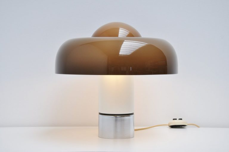 Brumbury table lamp by Luigi Massoni for Guzzini 1972