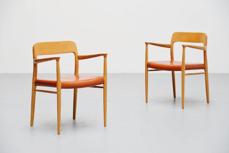 Niels Moller Model 56 armchairs Denmark 1954