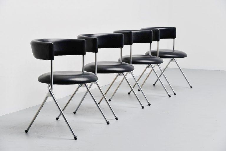 Werner Blaser dining chairs SZ09 't Spectrum Holland 1960