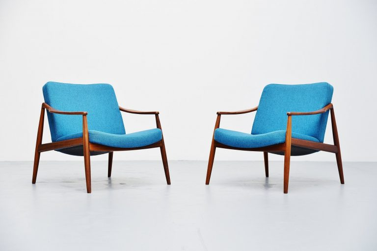 Hartmut Lohmeyer easy chairs for Wilkhahn Germany 1956