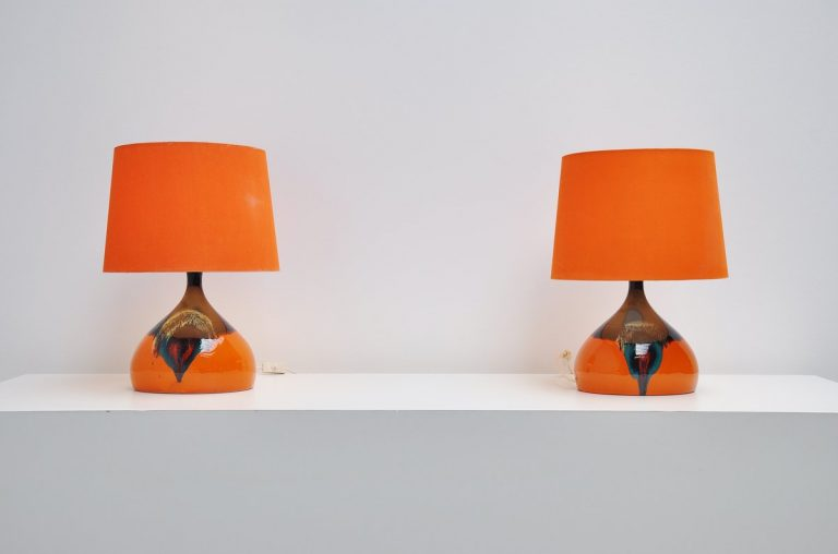 Bjørn Wiinblad pair of table lamps for Rosenthal 1970
