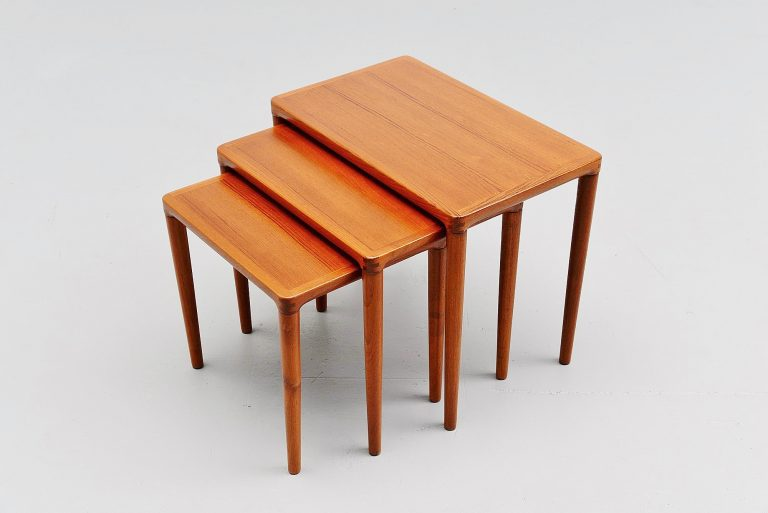 Bramin nesting tables in teak Denmark 1965