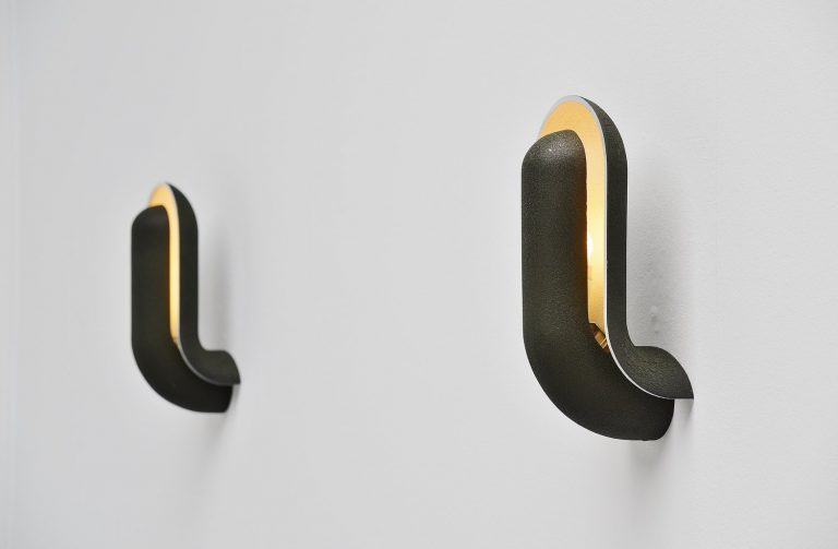 Piet Cohen Raak shellfish sconces Holland 1970