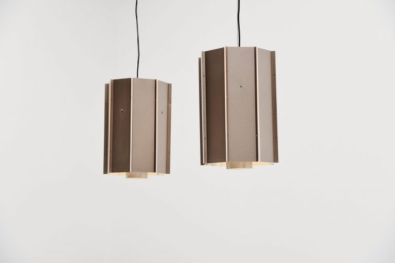 Raak Amsterdam industrial ceiling lamps Holland 1970