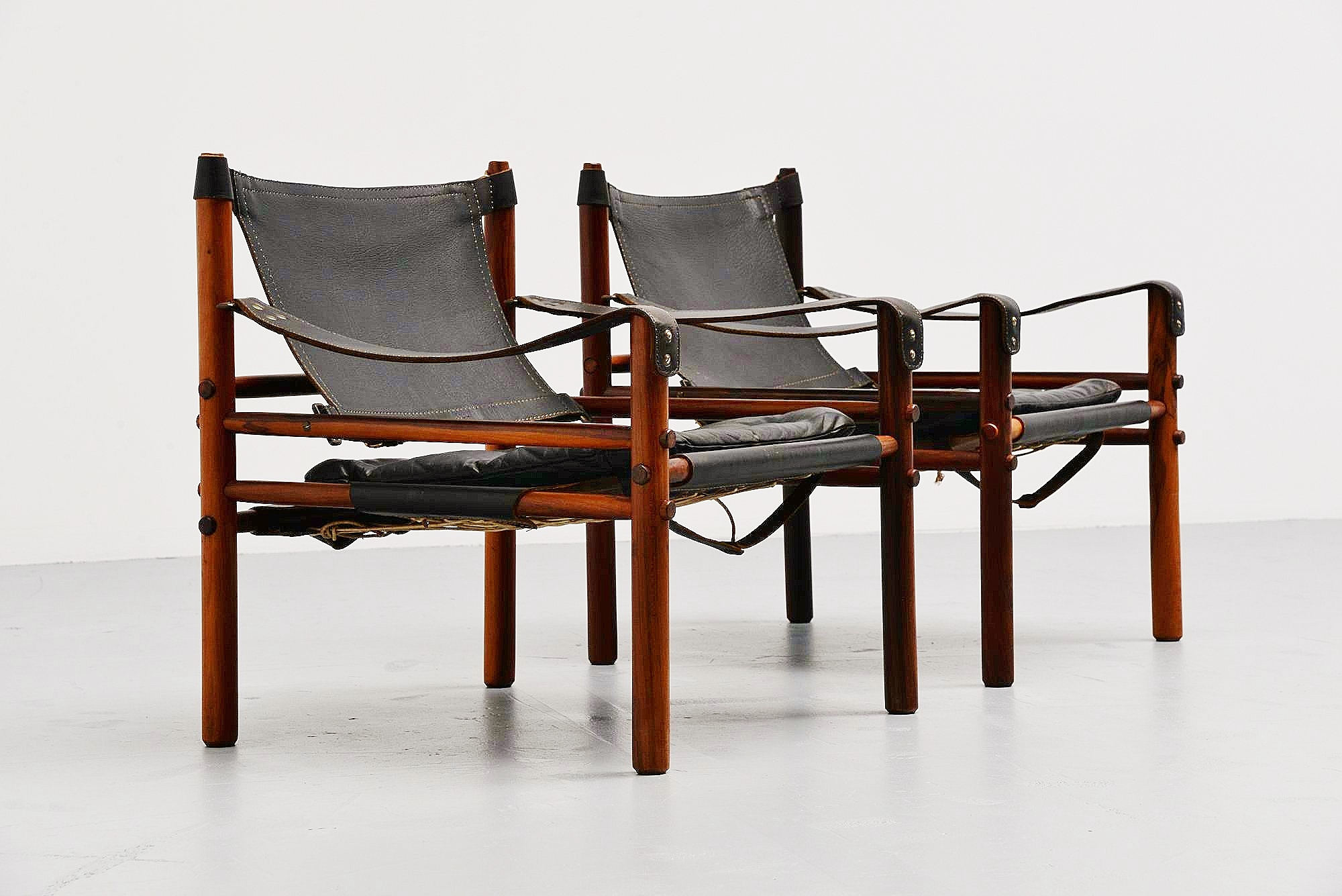Arne Norell Sirocco Safari Chairs Sweden 1964. Up