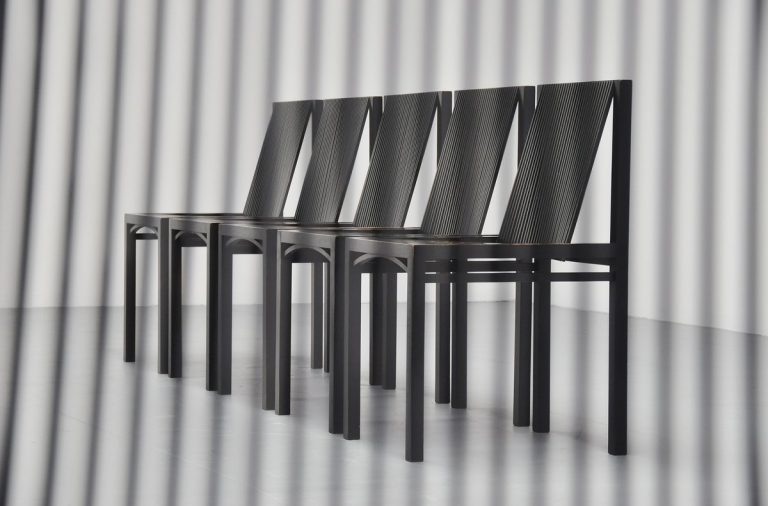 Ruud Jan Kokke dining chairs for Harvink 1984