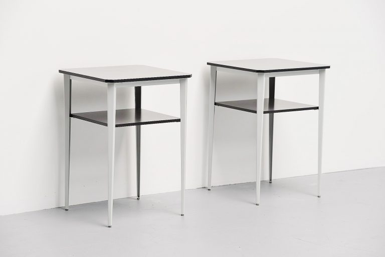 Wim Rietveld Rebel side tables Ahrend 1960