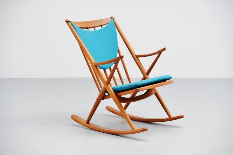 Frank Reenskaug rocking chair for Bramin Denmark 1960